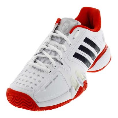 Men`s Novak Pro Synthetic Tennis Shoes White and Core Red