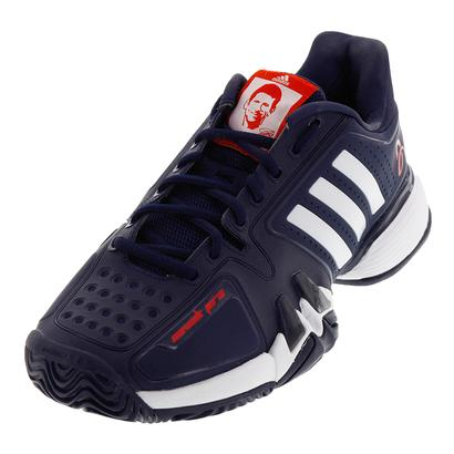 Men`s Novak Pro Synthetic Tennis Shoes Collegiate Navy and White