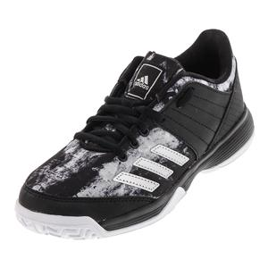 Juniors` Ligra 5 Tennis Shoes Black and Silver Metallic
