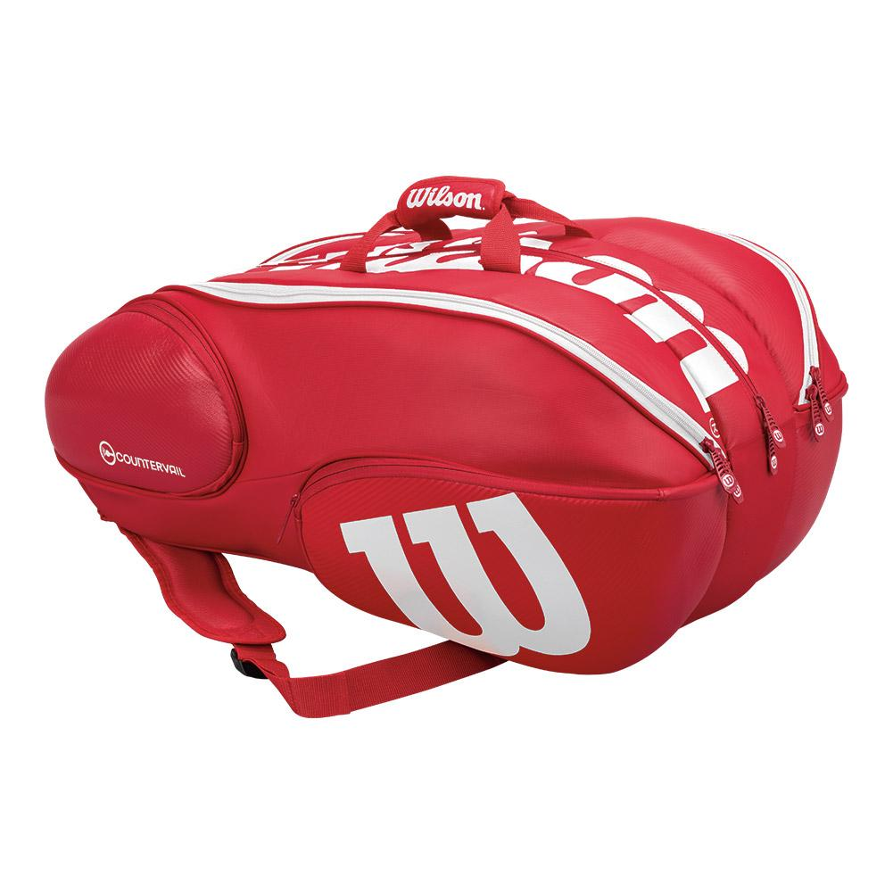 Wilson Pro Staff 15 Pack Tennis Bag Red And White