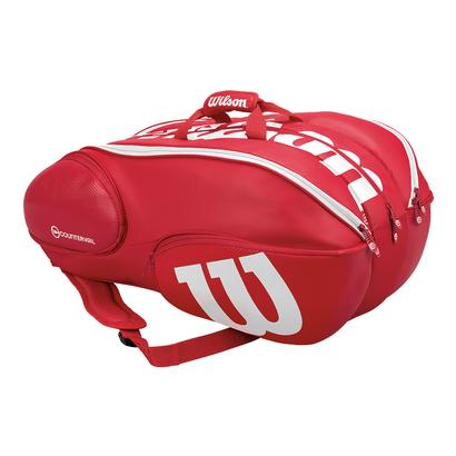 Pro Staff 15 Pack Tennis Bag Red and White