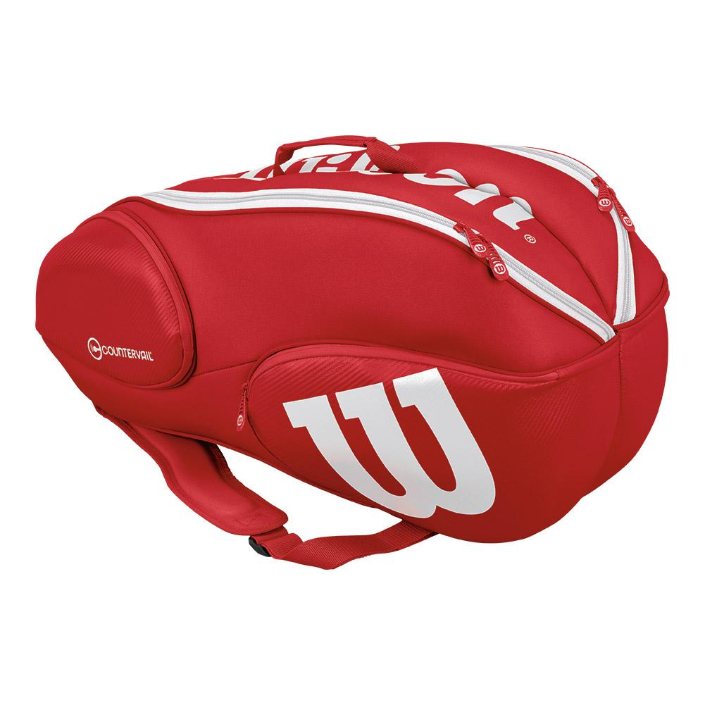 Pro Staff 9 Pack Tennis Bag Red And White