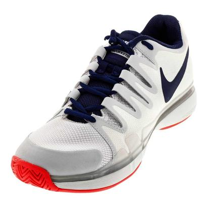Women`s Zoom Vapor 9.5 Tour Tennis Shoes White and Binary Blue