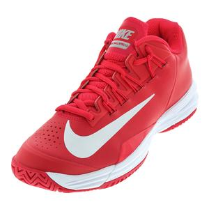 Men`s Lunar Ballistec 1.5 Tennis Shoes Team Red and Metallic Silver