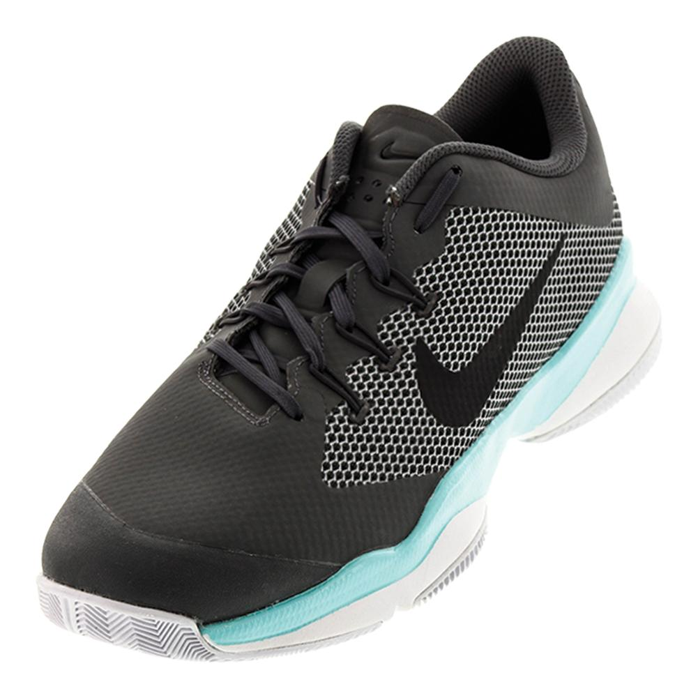 Men's Air Zoom Ultra Tennis Shoes Dark Gray And Aurora Green