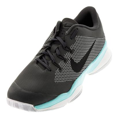 Men`s Air Zoom Ultra Tennis Shoes Dark Gray and Aurora Green