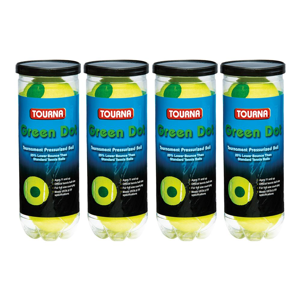 Green Dot Tennis Ball 4 Pack Cans