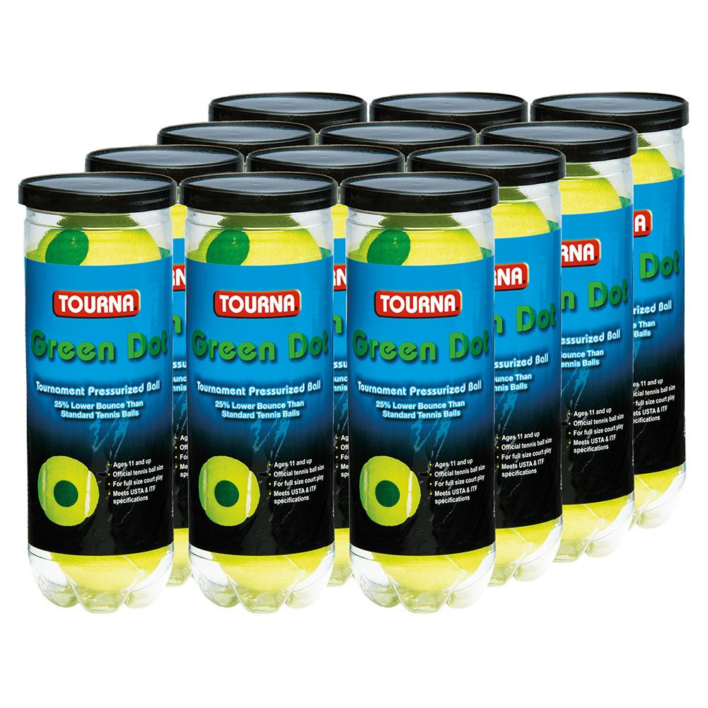Green Dot Tennis Ball 12 Pack Cans