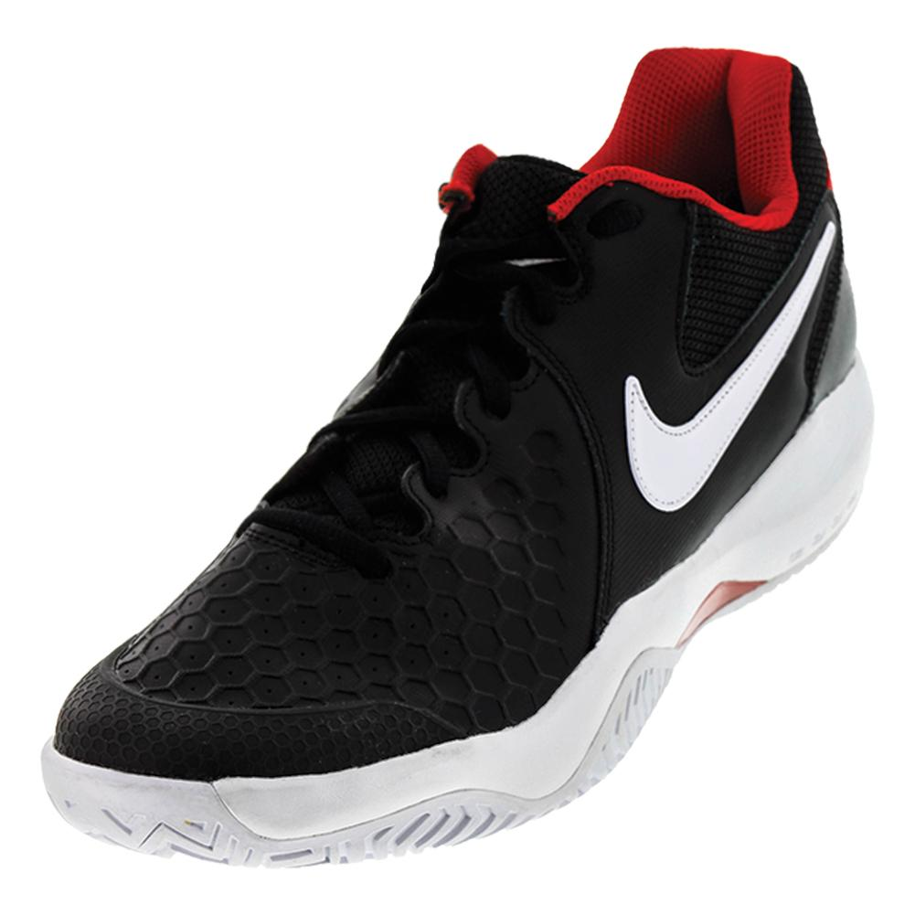 Men's Air Zoom Resistance Tennis Shoes Black And White
