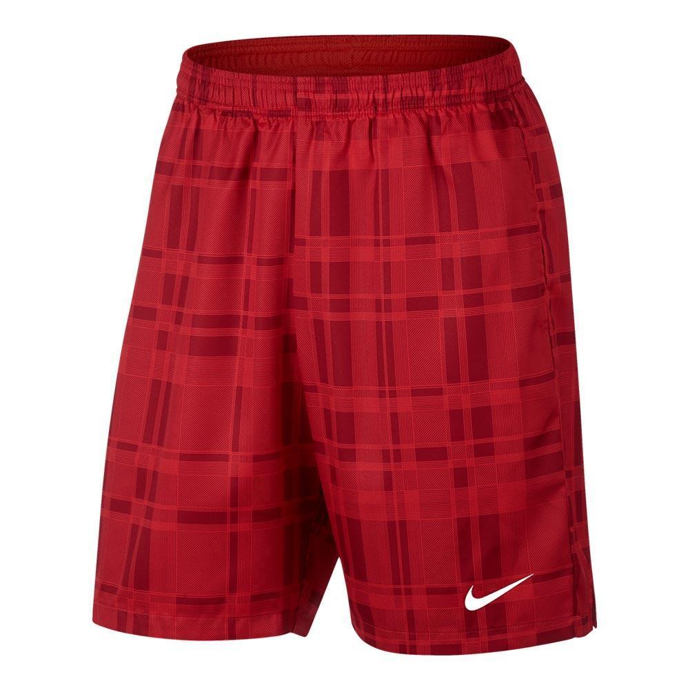 Men's Court Dry Plaid 9 Inch Tennis Short