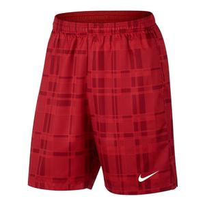 Men`s Court Dry Plaid 9 Inch Tennis Short
