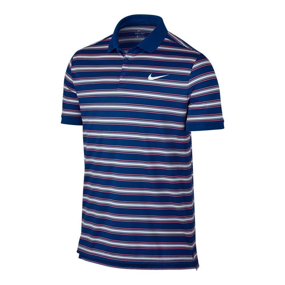 Men's Court Dry Stripe Tennis Polo