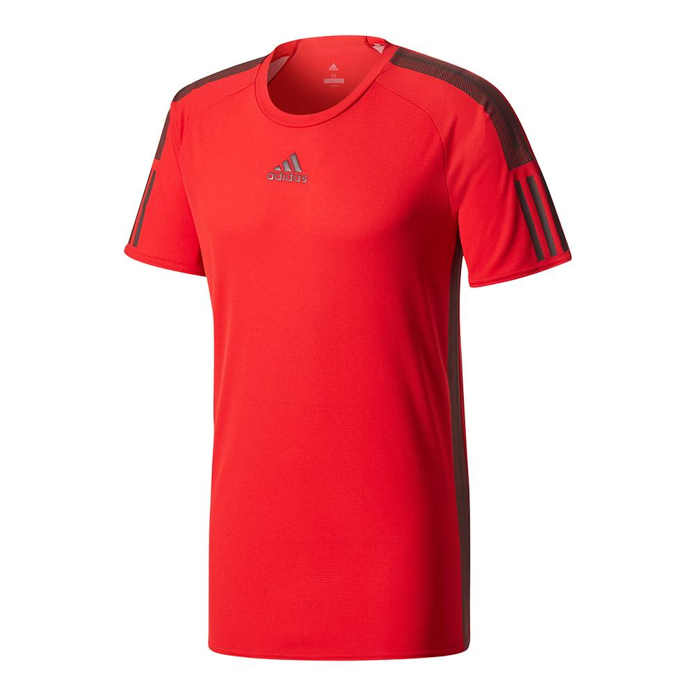 Men's Barricade Tennis Tee Scarlet And Dark Burgundy