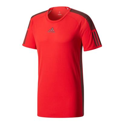 Men`s Barricade Tennis Tee Scarlet and Dark Burgundy