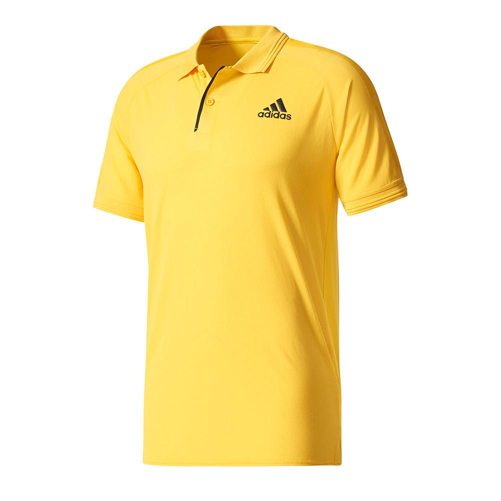 Men's Barricade Tennis Polo Eqt Yellow And Black