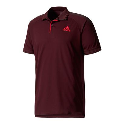 Men`s Barricade Tennis Polo Dark Burgundy and Scarlet