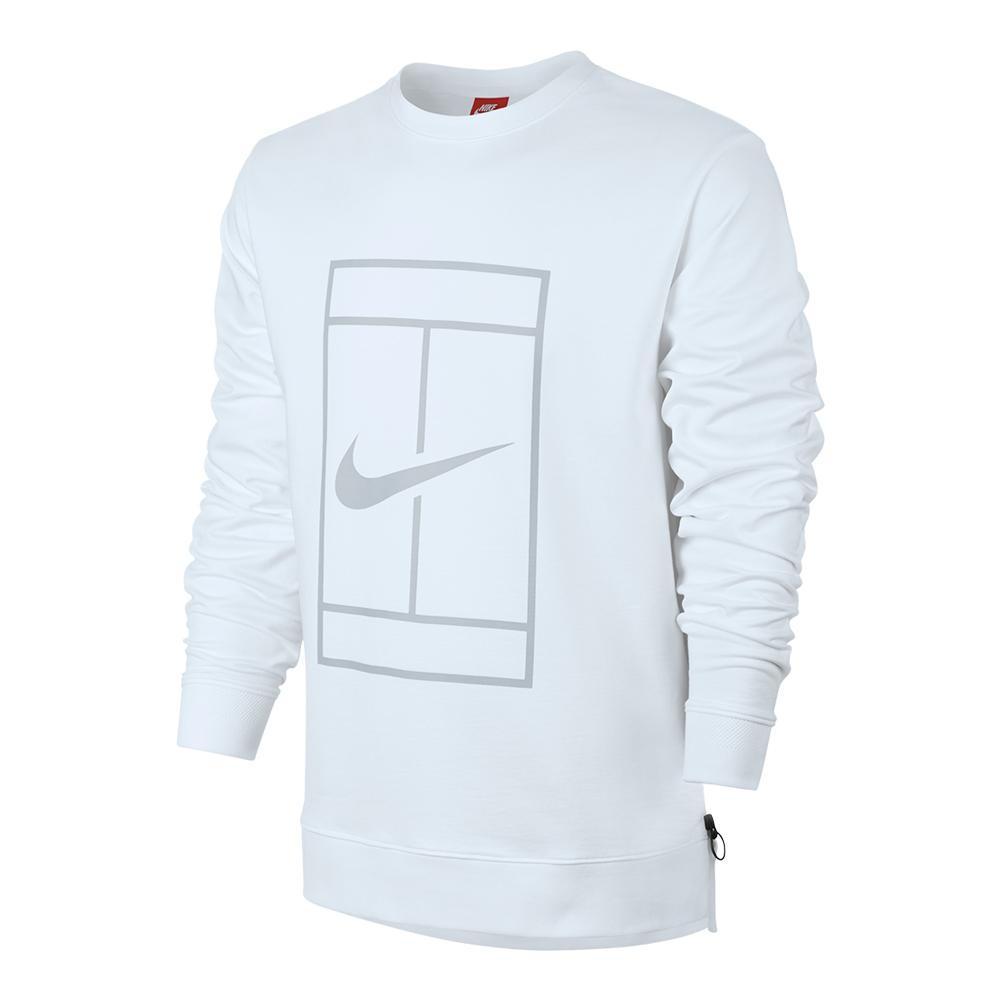 Men's Court Fleece Long Sleeve Tennis Crew