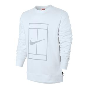 Men`s Court Fleece Long Sleeve Tennis Crew