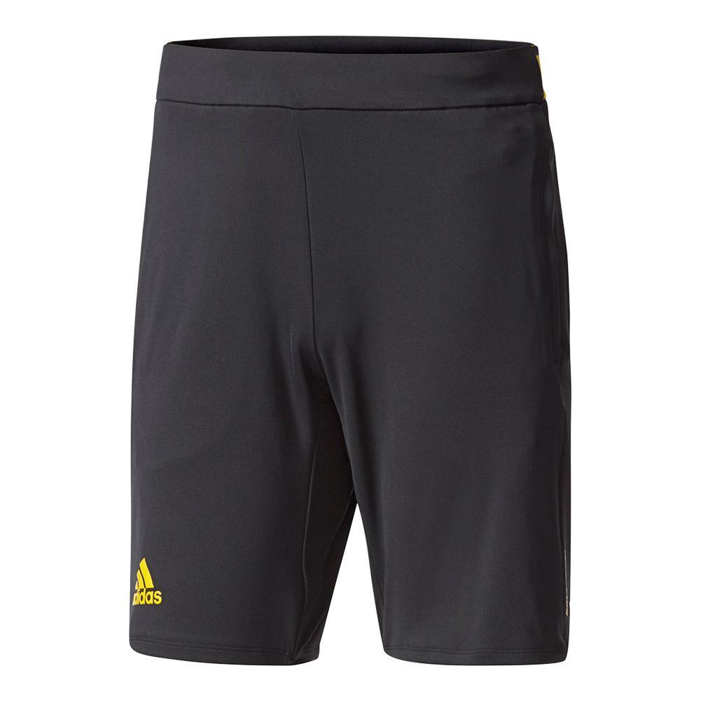 Men's Barricade Tennis Short Black And Eqt Yellow