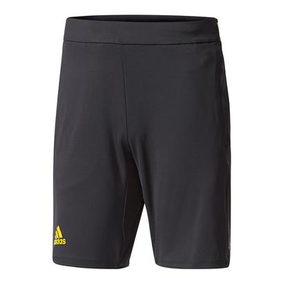 Men`s Barricade Tennis Short Black and Eqt Yellow