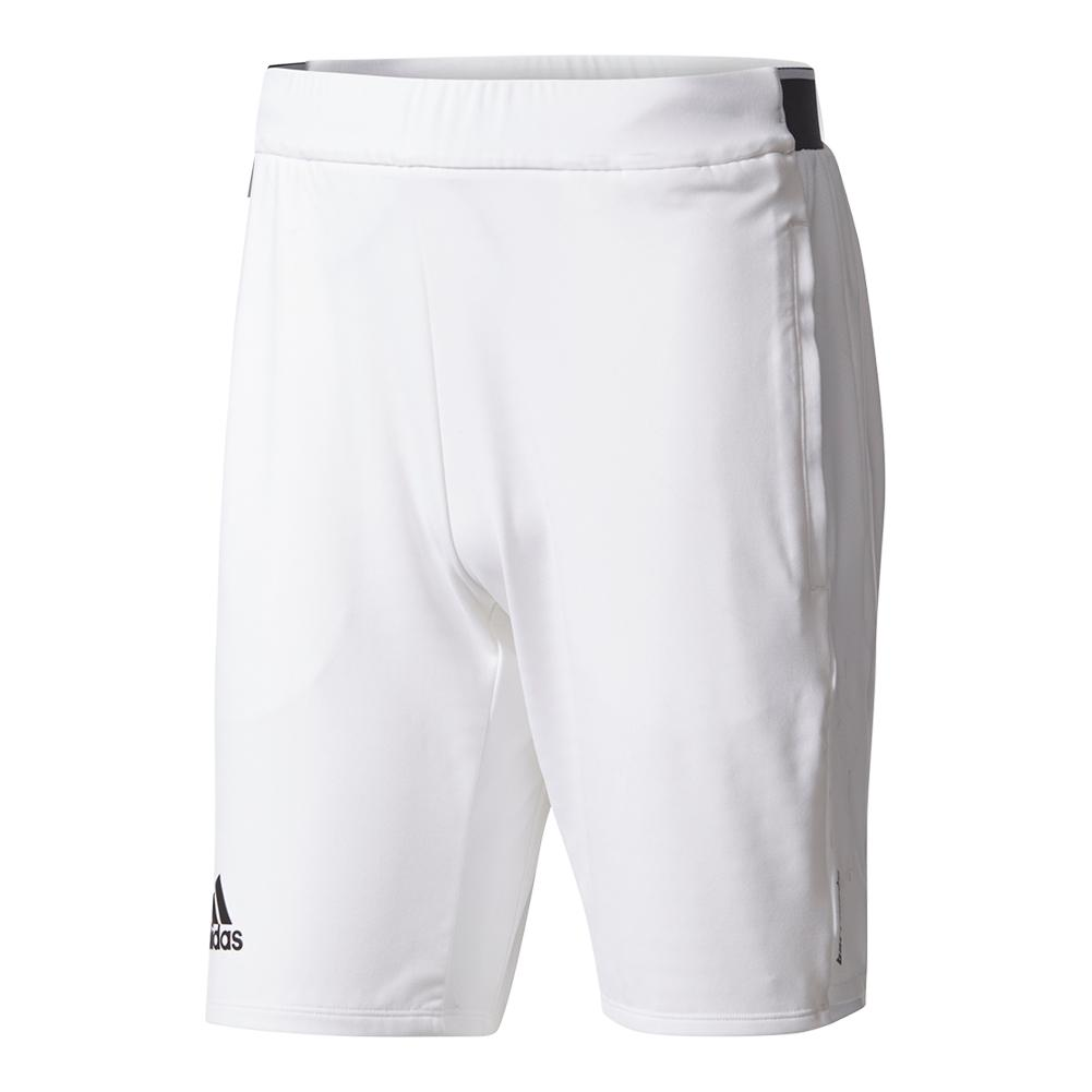 Men's Barricade Tennis Short White And Black