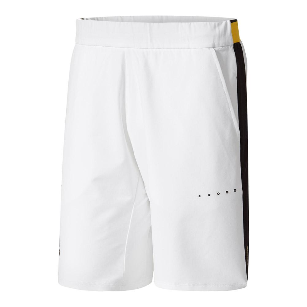 Men's Barricade Bermuda Tennis Short White And Eqt Yellow