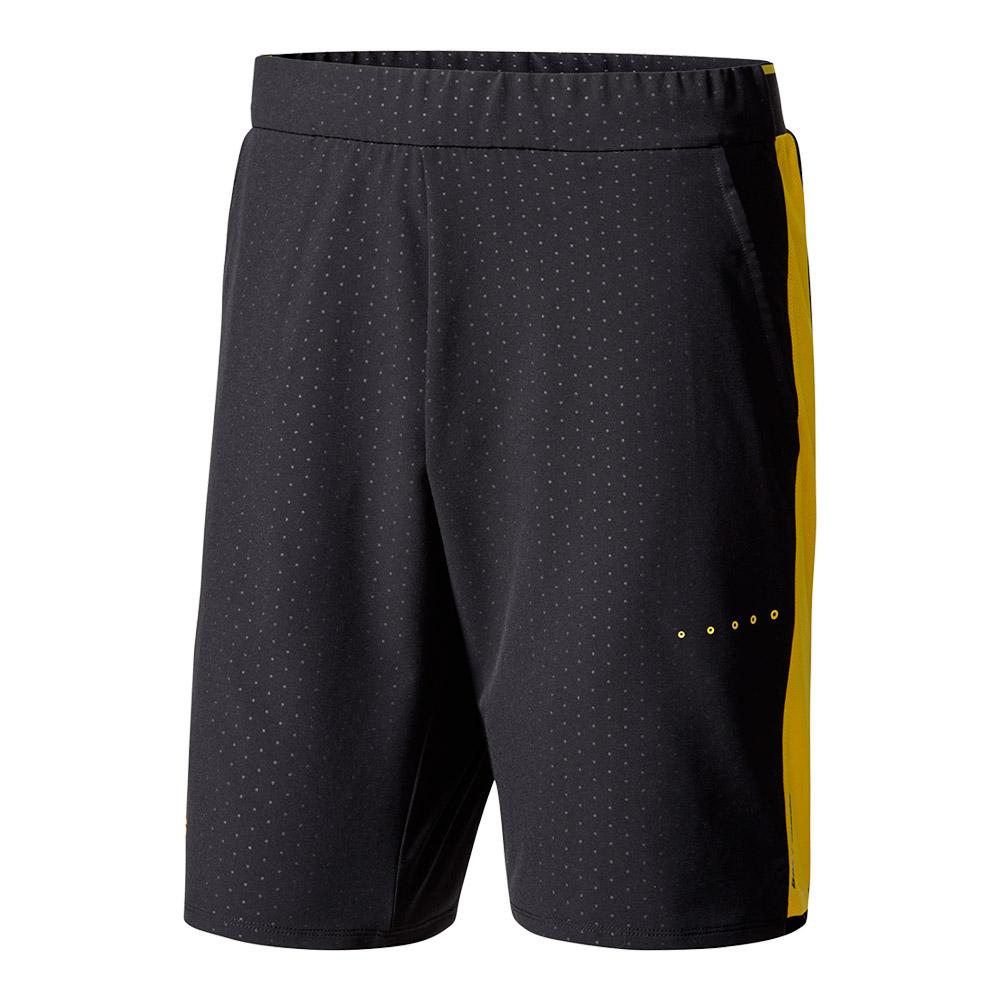 Men's Barricade Bermuda Tennis Short Black And Eqt Yellow