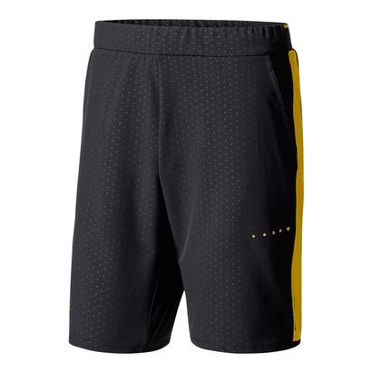 Men`s Barricade Bermuda Tennis Short Black and Eqt Yellow