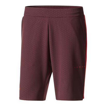 Men`s Barricade Bermuda Tennis Short Dark Burgundy and Scarlet
