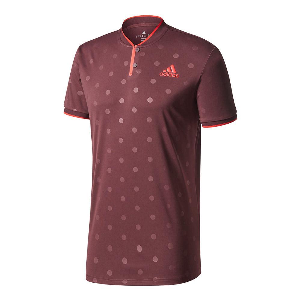 Men's Tennis Polo Dark Burgundy