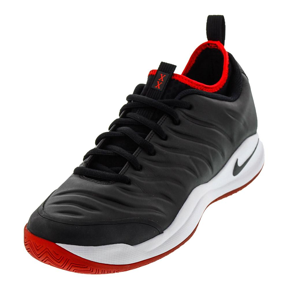 Men's Air Zoom Oscillate Tennis Shoes Black And White
