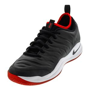 Men`s Air Zoom Oscillate Tennis Shoes Black and White