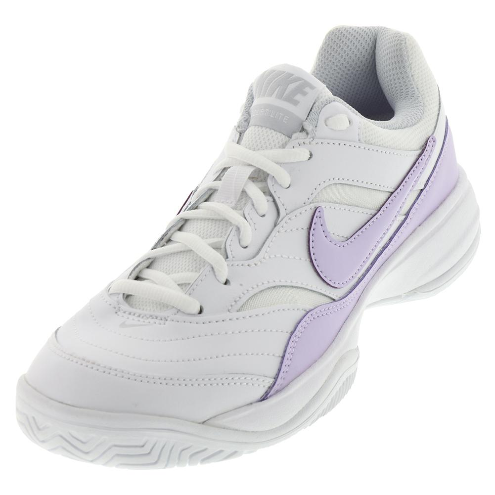 Women's Court Lite Tennis Shoes White And Violet Mist