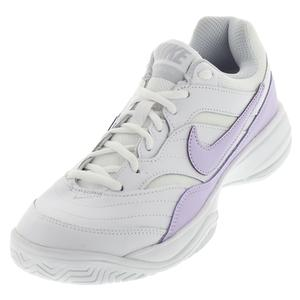 Women`s Court Lite Tennis Shoes White and Violet Mist