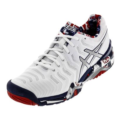 Men`s Gel-Resolution 7 Limited Edition London Tennis Shoes White and Indigo Blue
