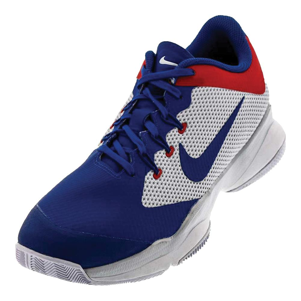 Men's Air Zoom Ultra Tennis Shoes White And Blue Jay