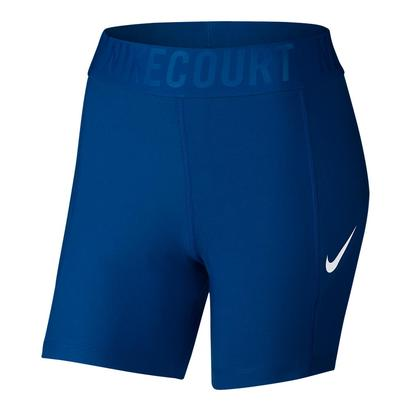 Women`s Court Baseline 5 Inch Tennis Short Blue Jay