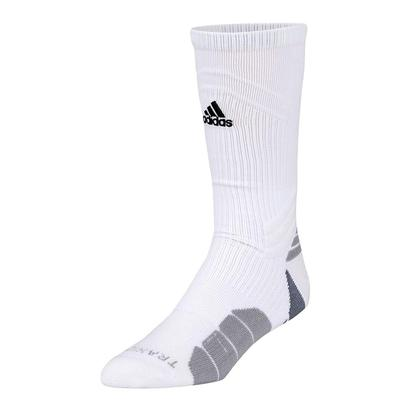 Traxion Menace Crew Tennis Sock White