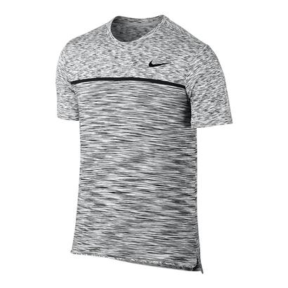 Men`s Dry Challenger Tennis Top White and Black