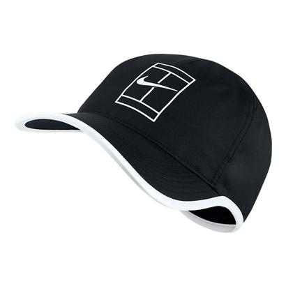 Aerobill Featherlight Tennis Cap Black and White