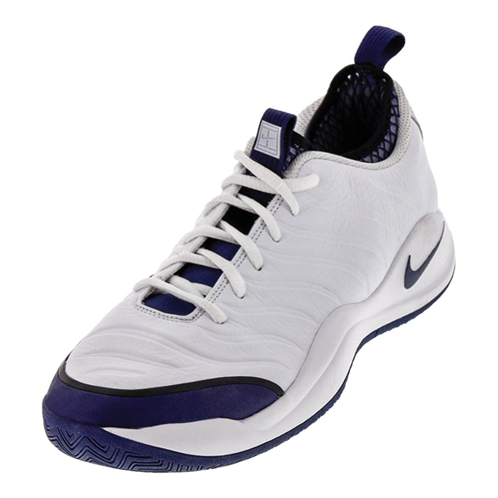 Men's Air Zoom Oscillate Tennis Shoes White And Midnight Navy