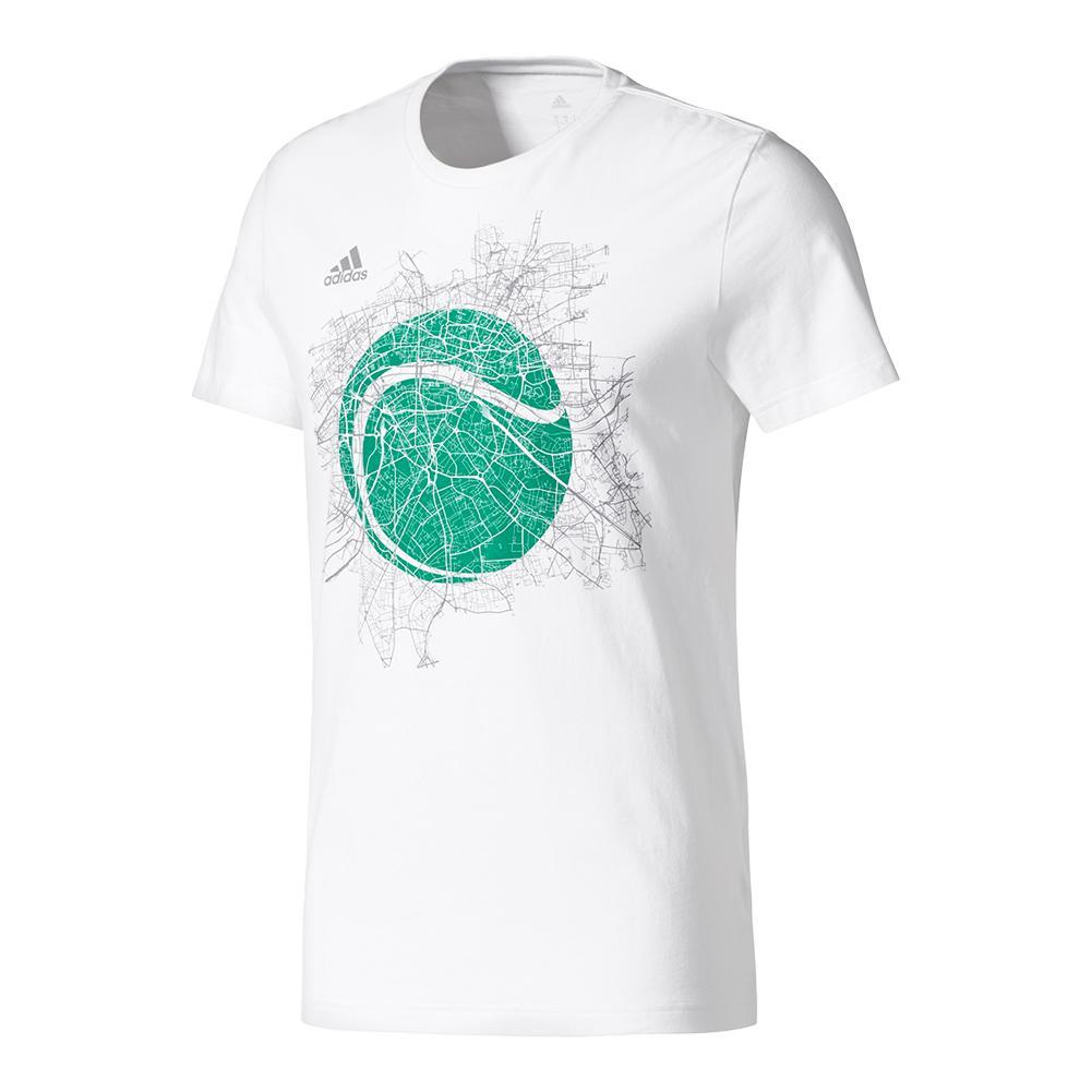 Men's Wimbledon Graphic Tennis Tee White