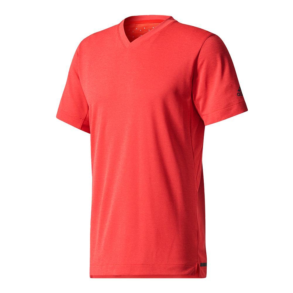 Men's Climachill Tennis Tee Scarlet