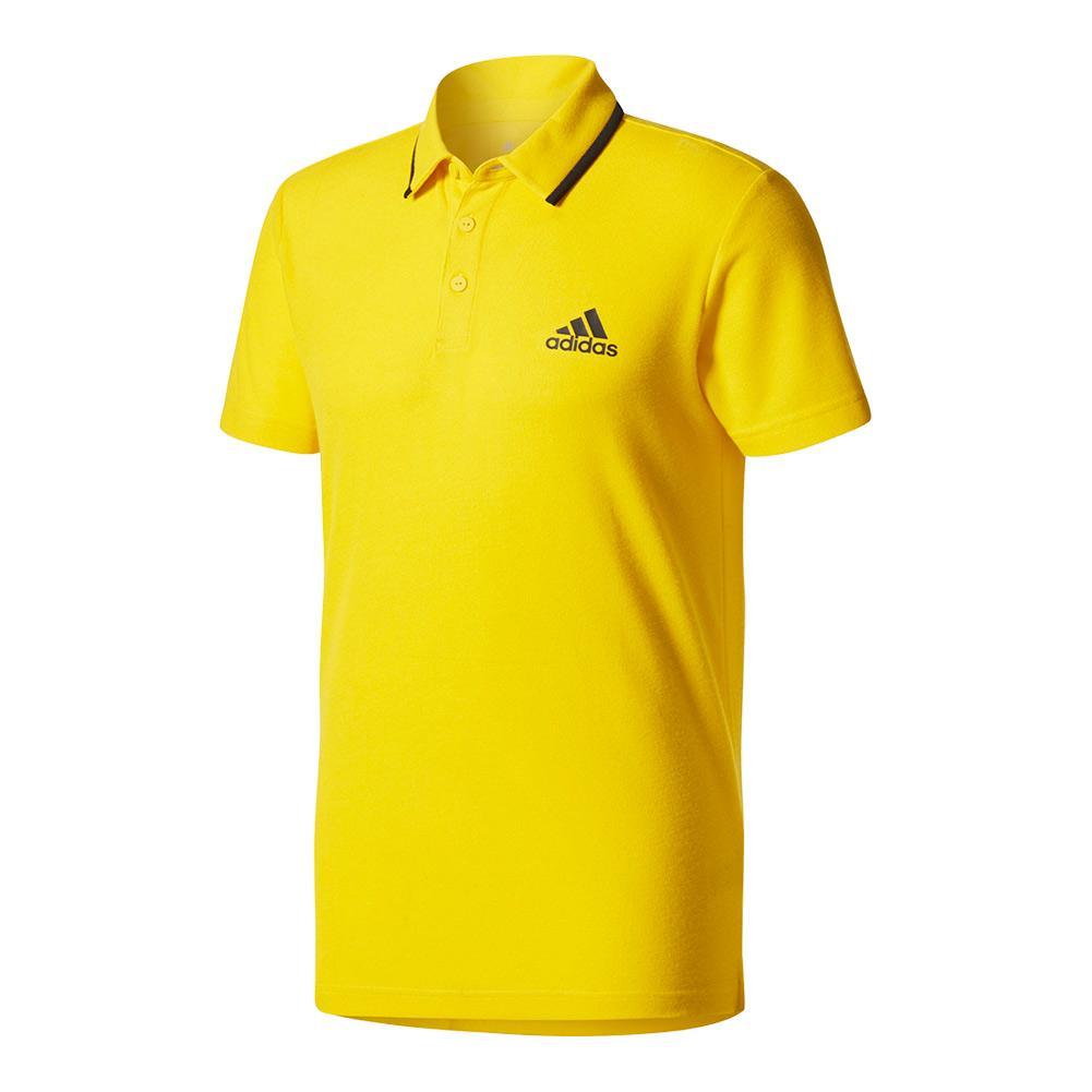 Men's Advantage Tennis Polo Eqt Yellow