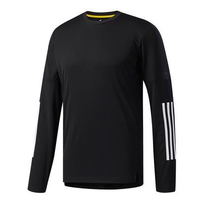 Men`s Advantage 3S Long Sleeve Tennis Tee Black and White