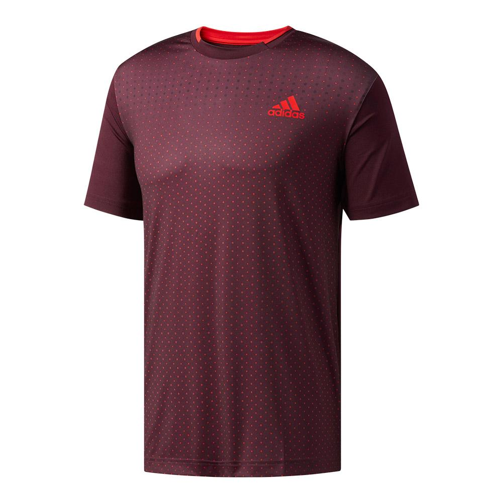 Men's Advantage Trend Tennis Tee Dark Burgundy And Scarlet