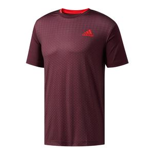 Men`s Advantage Trend Tennis Tee Dark Burgundy and Scarlet
