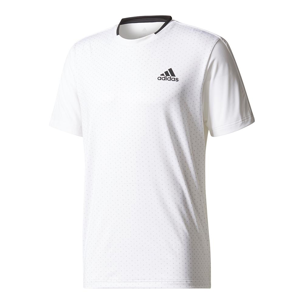 Men's Advantage Trend Tennis Tee White And Black