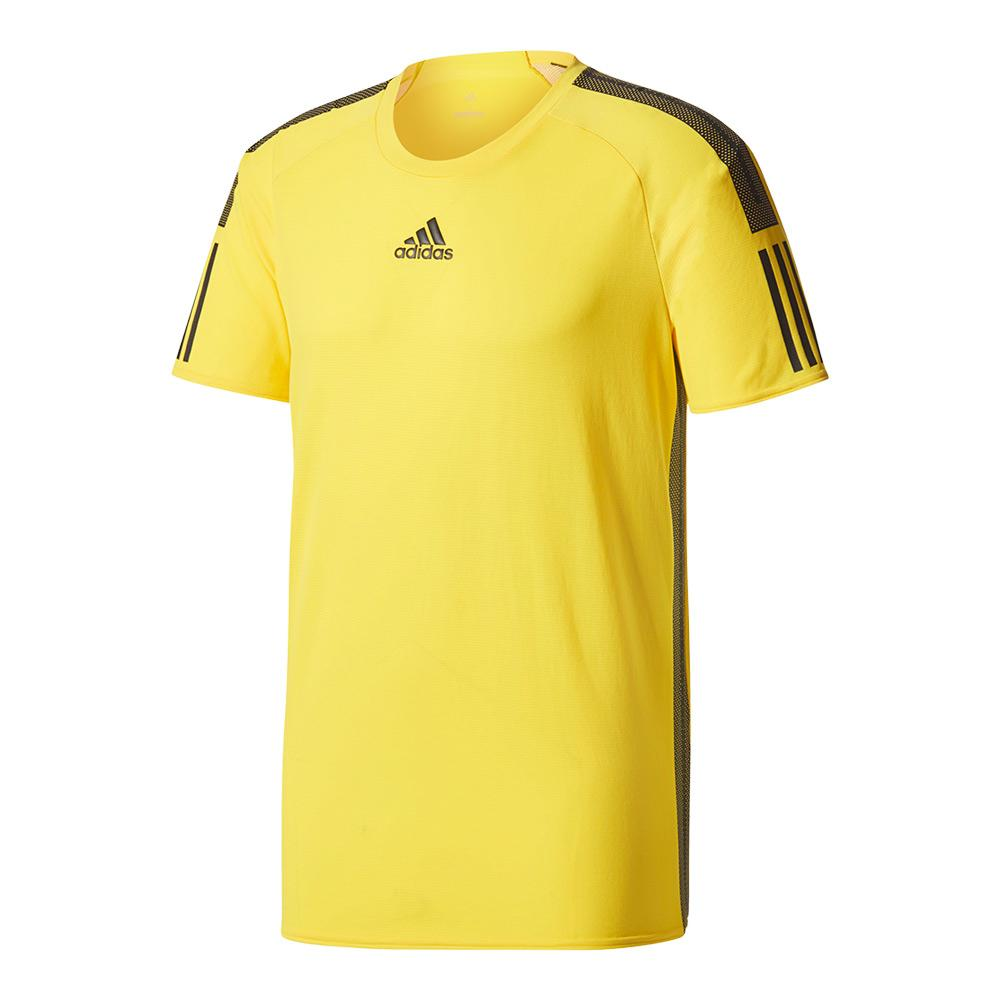 Men's Barricade Tennis Tee Eqt Yellow And Black