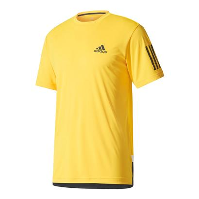 Men`s Club Tennis Tee Eqt Yellow and Black